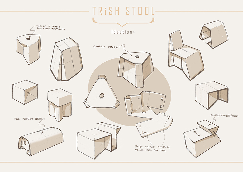Trish Stool Michael Kitchenham Design